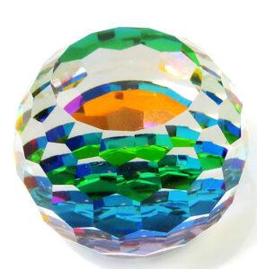Kristallen bol  met facetten als illustratie bij artikel over werken met edelsteenremedies